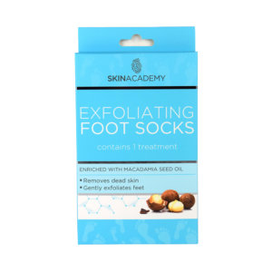 Skin Academy Exfoliating Foot Socks – Macadamia Seed Oil