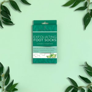 Skin Academy Exfoliating Foot Socks – Aloe Vera & Tea Tree